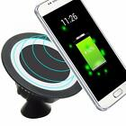 Qi Wireless Charger Dock 360 Rotating Mount Car Holder Charging Pad For Samsung