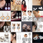 New 1 Pair Fashion Women Vintage Style Fashion Rhinestone Dangle Stud Earrings