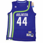 Pistol Pete Maravich #44 Atlanta Hawks Adidas Men's Blue Throwback Jersey SMALL on eBay