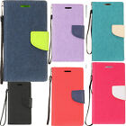For ZTE Warp 7 Premium Leather Wallet Case Pouch Flip Phone Cover Accessory