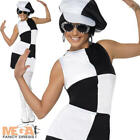 1960s Party Girl Ladies Fancy Dress 60s 70s Groovy Disco Womens Adults Costume