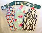 2L Hot Water Bottle & Soft Fleece Cover Spots Zebra & Flower Design Cosy Gift