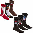 Mens Xmas Novelty Funny Socks Christmas Stocking Filler Cartoon Socks 6 Pack