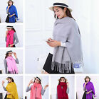 NEW Women's 73''X26'' Cashmere Pashmina Solid Tassel Shawl Wrap Scarf  20Color