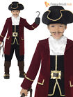 Deluxe Boys Pirate Captain Hook Caribbean Fancy Dress Costume Kids Book Week Day