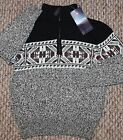 New! Boys Chaps Holiday Sweater (Pullover; Christmas; Black/White) - Size 4, 6