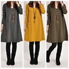 Autumn Winter Maternity Dress Pregnant Dresses Pregnancy Clothes Solid Shirt