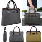 Canvas Messenger Bag for Men Tote Briefcase Shoulder Satchel Laptop Computer Bag
