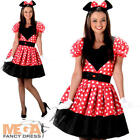 Miss Mouse Ladies Fancy Dress Animal Book Day Womens Adults Cartoon Costume New