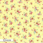 ANTIQUE FLOWER PASTEL 2016 SMALL ROSE YELLOW QUILT SEWING FABRIC Free Oz Post