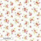 ANTIQUE FLOWER PASTEL 2016 SMALL ROSE WHITE QUILT SEWING FABRIC Free Oz Post