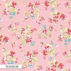 ANTIQUE FLOWER PASTEL 2016 MEDIUM ROSE PINK QUILT SEWING FABRIC Free Oz Post