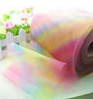 "5/25/100yard *6"" Rainbow tulle tutu sewing DIY Wedding Party Decoration L1976"