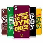 HEAD CASE DESIGNS FUNNY WORKOUT STATEMENTS HARD BACK CASE FOR SONY PHONES 2