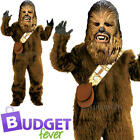 Deluxe Chewbacca Boys Star Wars Fancy Dress Movie Film Kids Children Costume New £30.99 GBP