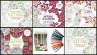 Adult Zen Colouring Book Detachable Sheets With Basic Pencil Starter Kit