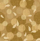 SUNDAY FLOWER BEIGE CIRCLES QUILT SEWING FABRIC Free Oz Post