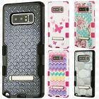 For Samsung Galaxy Luna Premium Leather Wallet Lips Flip Cover + Screen Guard