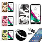 For LG K7 | LG Tribute 5 | LG Treasure TPU Case + Tempered Glass Army Camouflage