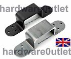 'Slide In' Security Brackets (Pair) 65x35 mm Aperture - Door Shed Stable Garage