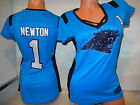 61200 WOMENS Carolina Panthers CAM NEWTON DRAFT ME Football Jersey NEW