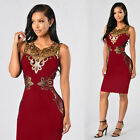Lady Women Summer Sleeveless Lace Casual Evening Party Cocktail Short Mini Dress