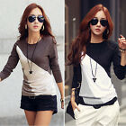 Fashion Women Ladies Long Sleeve Crew Neck T-Shirt Casual Tops Blouse Tee Shirt
