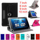 """New Universal Leather Flip Stand Case Cover For Android Tablet 7"""" 8"""" 9"""" 10"""" LOT"""