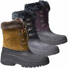 LADIES GROUNDWORK SNOW THINSULATED BOOTS MUCKER  WELLINGTONS FUR WOMENS SHOES