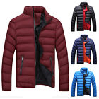 Men's Warm Jacket Stand Collar Bubble Coat Outdoor Thick Padded Outwear Overcoat