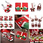 Christmas Table Cutlery Decorations Santa Cutlery Holders Mat for Knife and Fork