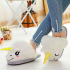 Adult Warm Plush Winter Cute Men Women Unicorn Slippers Home Indoor Shoes