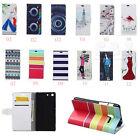 Cartoon Painting Leather Flip stand Cover Case For Samsung Phones 05