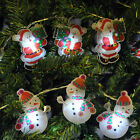 CHRISTMAS TREE HOUSE STRING LED LIGHTS SANTA & SNOWMAN CHARACTER SETS AA BATTERY