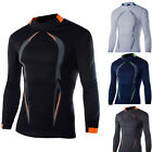 Men Long Sleeve Compression Baselayer Body Thermal Under Skin T-Shirt Tight Tops