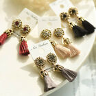Rhinestone Long Tassel Dangle Earrings for Women Thread Fringe Drop Earrings XWW