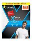 8 Hanes Men's X-Temp® Comfort Cool® Crewneck White Undershirts 2535X4