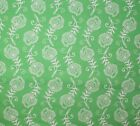 CONTEMPO FEATHERS LEAVES GREEN WHITE QUILT SEWING FABRIC *Free Oz Post