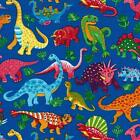 DINO DINOSAURI SPY BRIGHTS NOVELTY QUILT SEWING FABRIC *Free Oz Post