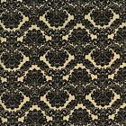 DAMASK BLACK CREAM A QUILT SEWING FABRIC *Free Oz Post