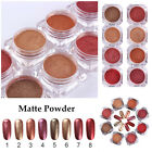 1 Box Nail Art Matte Glitter Powder Gold Red Series Manicure Decor DIY 8 Colors