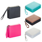 120 Slots PU Leather Zipper Pencil Case Cosmetic Make Up Bag Large Capacity New