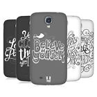 HEAD CASE DESIGNS HAND DRAWN TYPOGRAPHY BATTERY COVER FOR SAMSUNG GALAXY S4