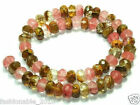 """5X8mm Faceted Watermelon Tourmaline Gems loose Beads 15""""AAA"""