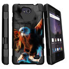 For ZTE Tempo N9131 Hybrid Dual Bumper Case Stand Heavenly Stars