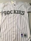 MEN'S VINTAGE COLORADO ROCKIES RUSSELL ONFIELD AUTHENTIC WHITE BASEBALL JERSEY on Ebay