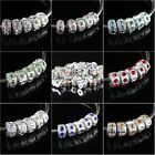 WHOLESALE CRYSTAL RHINESTONS STOPPERS LOCKS/CLIPS CHARMS BEADS FIT BRACELET DIY