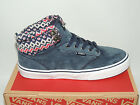 VANS ATWOOD HI MOUNTAIN EDITION BLUE LEATHER TRAINERS. BNIB