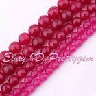4mm 8mm 10mm Faceted Round Plum Jade Gemstone For DIY Jewelry Making Beads 15""
