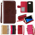 Embossed Pattern Card Holder Leather Flip Wallet Case Cover for Samsung Galaxy